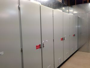 After shot all equipment removed and enclosure installed with electrical equpment