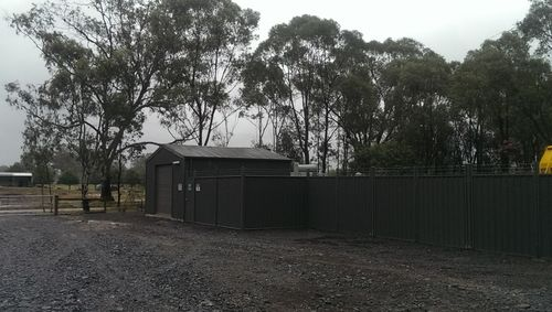 Surface HV switchroom and yard fencing